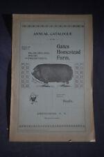 Ca 1896 Gates Homestead Farm Catalog Hogs, Poultry, Ferrets, Chittenango NY