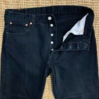 Vintage Levi's 517 men's straight leg button fly Black Denim jeans W36 L28