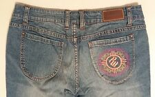 Rocawear Embroidered 99 Capri Cropped Womens Size 9 Stretch Denim Blue Jeans