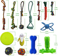 SHARLOVY Dog Chew Toys for Puppies Teething, 14-Pack Dog Rope Toys, Tug of War