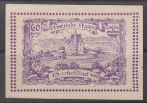 Austria Notgeld Gemeinde Naarn 1920 60 Heller