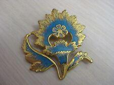 Estate Costume Metropolitan Museum of Art Blue Flower Mughal Pin or Pendant