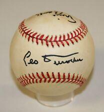 Leo Durocher/Ernie Banks Signed ONL Giamatti Baseball PSA/DNA X25213 Cubs
