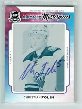 14-15 UD The Cup  Christian Folin  1/1  Printing Plate  Auto  Rookie