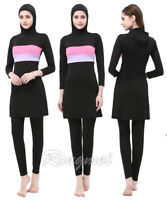 Women Swimwear Full Cover Swimsuit Muslim Islamic Burkini Beachwear Modest Arab