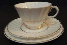 Royal Doulton Adrian White Gold Trim Teacup Saucer Dessert Plate