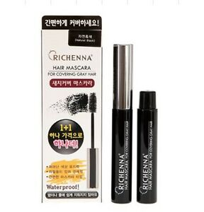 Richhena Hair Mascara 14 ml 1+1 Promo BOGOF Pack Cover Gray Easy & Quick At Home