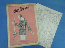 REVUE MODE BRODERIE : MADAME 1924 (161) + DESSINS DECALQUABLES EMBROIDERY