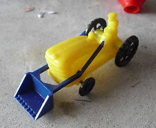 Vintage 1960s Wannatoy Plastic Yellow Tractor with Loader LOOK