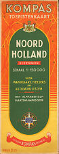 KOMPAS TOERISTENKAART NOORD-HOLLAND 1: 150000 (ca.1950)