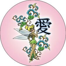 Disney Tinker Bell Tinkerbell Fairy Kanji Tink New Pinback Button Disney