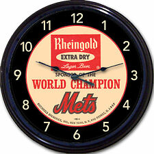 NY Mets Beer Rheingold Coaster Wall Clock Baseball World Series 1969 MLB 10""