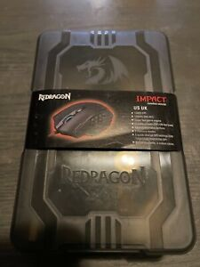 Red Dragon M908 Impact RGB LED MMO Mouse W/ Optical Wired Gaming 12,400DPI  7609