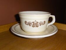 SET OF 4  Vintage Pfaltzgraff Village Soup OR Coffee Flat Cup Mugs With Saucer