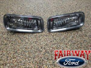 04 thru 05 F-150 OEM Genuine Ford Parts Fog Lamps Lights - Pair - Both LH & RH