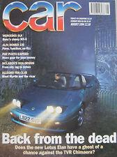 CAR 08/1994 featuring TVR Chimaera, Lotus Elan, Alfa Romeo, Jeep, Mercedes