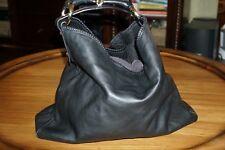 Gucci Horsebit Black Leather X Large Hobo Shoulder bag