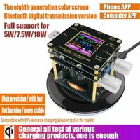Indicator DC Voltmeter QI Wireless Charger Tester Color TFT Bluetooth Android PC