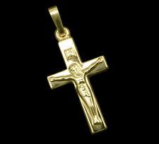 585 ECHT GOLD *** Jesus Kreuz Anhänger Kruzifix 23 mm