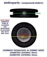 GOMMINO PASSACAVO IN GOMMA FORATI E CIECHI AD INCASSO PER CABLAGGIO AUTO MOTO