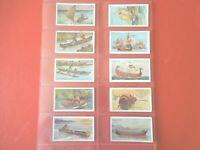 1929 Sarony SHIPS OF ALL AGES sail boat comp.set of 50 Tobacco Cigarette cards
