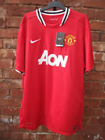 NEW WITH TAGS MANCHESTER UNITED FC 2011-12 HOME RED FOOTBALL SHIRT SIZE 3XL
