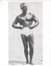 62 year old He Man Bodybuilder CHARLES ATLAS Bodybuilding Photo B+W #2