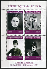 Chad 2019 CTO Charlie Chaplin Hitler 4v M/S Actors Famous People Stamps