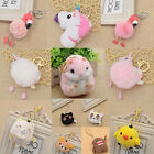 Lovely Keychain Flamingo Unicorn Hamster Luna Cat Keyring Bag Hanging Charm Gift