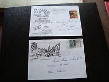 FRANCE - 2 enveloppes 1994 1995 (panazol/cours la ville) (cy50) french