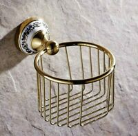 Gold Brass Paper Roll Holder Toilet Paper Holder Bathroom Accessories  Gba257