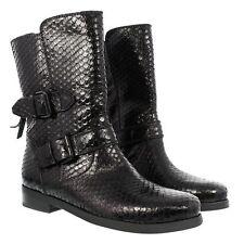 kennel & schmenger Black Leather Snakeskin Embossed Boot Size 5 UK 7 US
