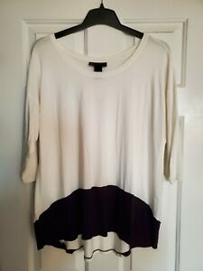 Lane bryant Black & white top size 14-16. New with tags! 3/4 length sleeve