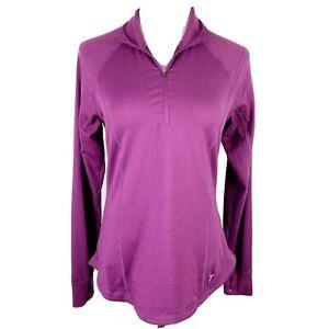 Old Navy Active Women's Medium Semi Fitted 1/4 Zip Thumb Holes Long Sleeve Shirt