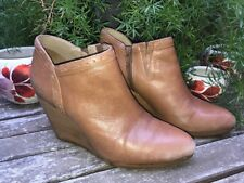 Jack Rogers Tan Wedge Ankle Bootie Women's Size 9