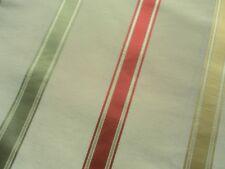 Sanderson Curtain Fabric VIOLETTA 1.2m Cherry/Cream Silk Mix Ribbon Stripe