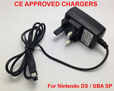 UK 3 PIN MAINS WALL CHARGER ADAPTER FOR NINTENDO DS- GAMEBOY ADVANCE GBA SP NDS