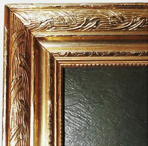 ANTIQUE GOLD LEAF GILT GILDED WOOD FRAME FOR PAINTING GREAT QUALITY 30 X 16