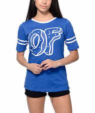 Odd Future OFWGKTA OF DONUT HOCKEY STRIPE Girls T-Shirt Royal NWT 100% Authentic
