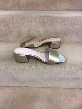 NEXT Gold Slip On Open Toe Mule, UK Size 6.5