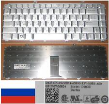 QWERTY KEYBOARD RUSSIAN Dell 1420 1520 1400 XPS M1330 D900R 0WM824 WM824 Grey