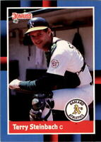1988 Terry Steinbach Donruss Baseball Card #158