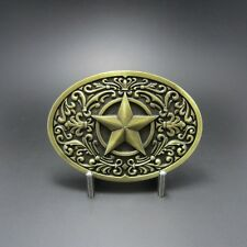 Western Decor Antiqued Bronze Plated Western Star Belt Buckle