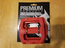 "Premium Slim Pc Bmx Bike Platform Pedal Replacement Bodies - 9/16"" - Red"