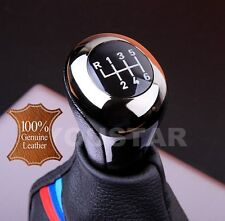 US Seller 6 Speed Gear Shift Knob for BMW E90 Z4 LEATHER SHADOW CHROME GUNMETAL