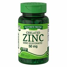 Nature's Truth Chelated Zinc 50mg 100 Tablets