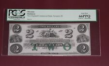 $2 New England Commercial Bank Newport Rhode Island  Note RI-660-13 PCGS 66 PPQ