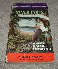 1949 WALDEN OR LIFE IN THE WOODS Henry David Thoreau Signet Paperback