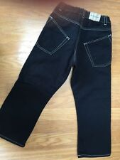 BURBERRY Toddler Boys BLACK JEANS 4 SLANTED POCKETS COOL Nova Logo Trim