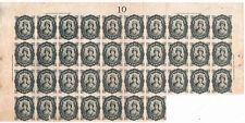 España. Gran bloque de 37 sellos fiscales